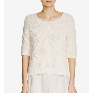 • Maje • Monnaie Cable Knit Sweater Cream Medium